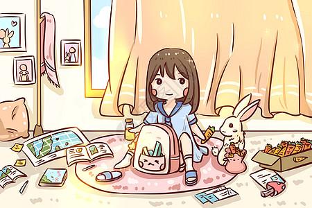 与兔子先生玩耍图片