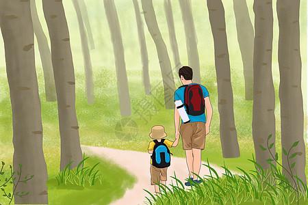 父与子的旅行路上图片