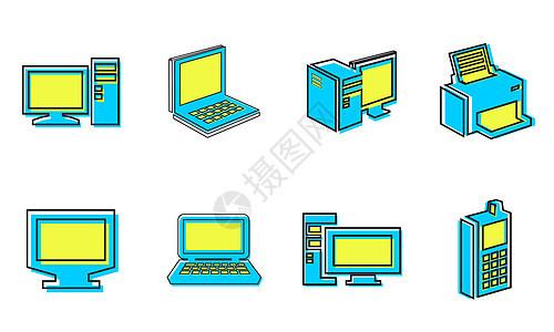 电脑图标图片