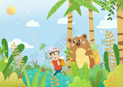 儿童旅行探险图片