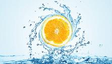创意清凉果橙背景图片