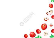 水果手绘水彩二分之一留白图片
