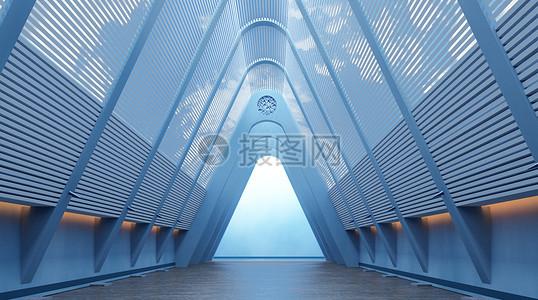 创意空间走廊场景图片