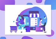 618网上购物促销背景banner图片