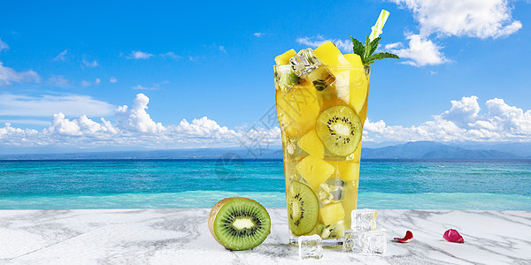 海边饮料图片