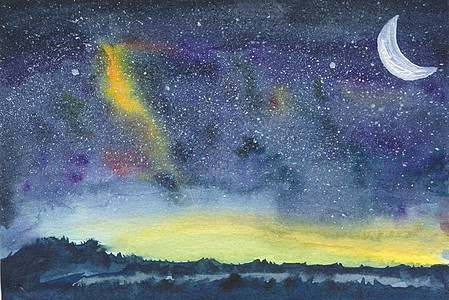 夜晚星空图片