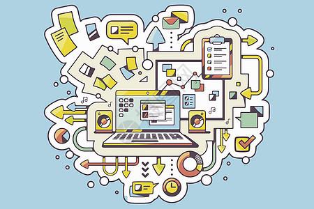 业务流程素材图片