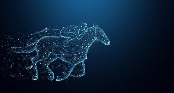驰骋的骏马背景图片
