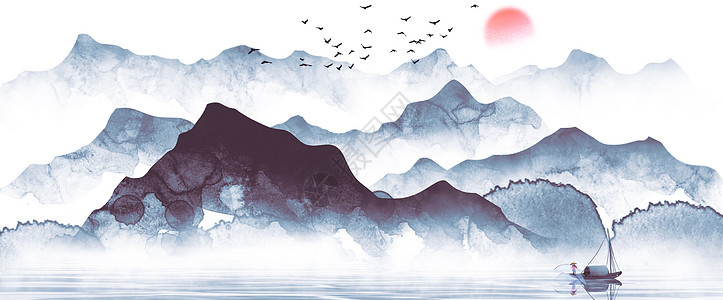 水墨山水画图片