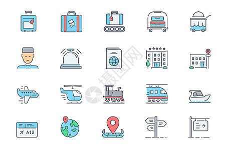 旅游图标icon图片