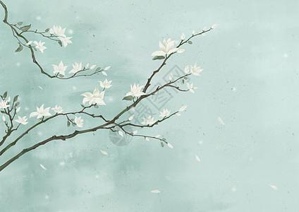 中国风唯美水彩背景图片