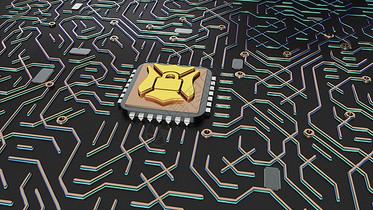 科技安全芯片图片