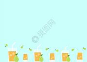 梨汁二分之一留白背景图片