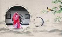 中国风水墨人物图片