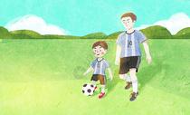 父亲节踢足球图片