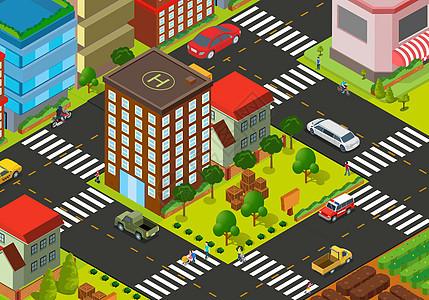 美丽的城市街道图片