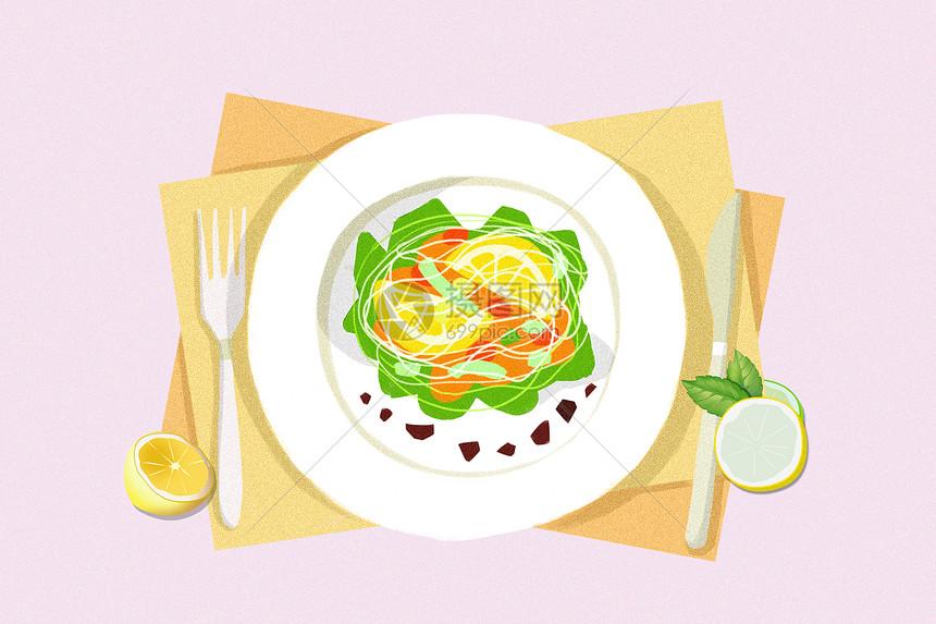 夏季美食水果面包图片