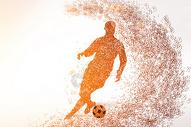 足球运动剪影图片