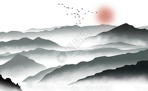 山丘云海图片