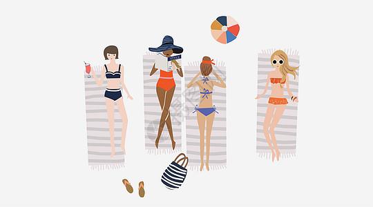 夏日女孩度假图片