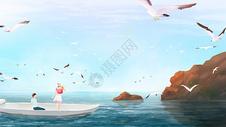 一起看海鸥图片