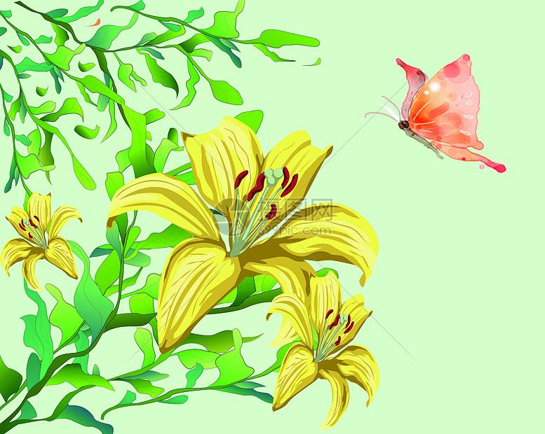 茉莉花茶插画设计图片