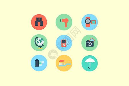 旅行设备类图标图片