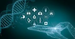 创意医疗科技线条图片