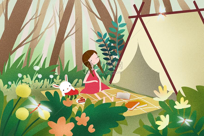 露宿野营图片