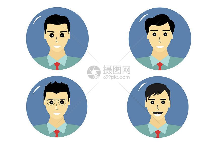 商务人物半身图片