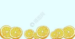 清新水果柠檬插画图片