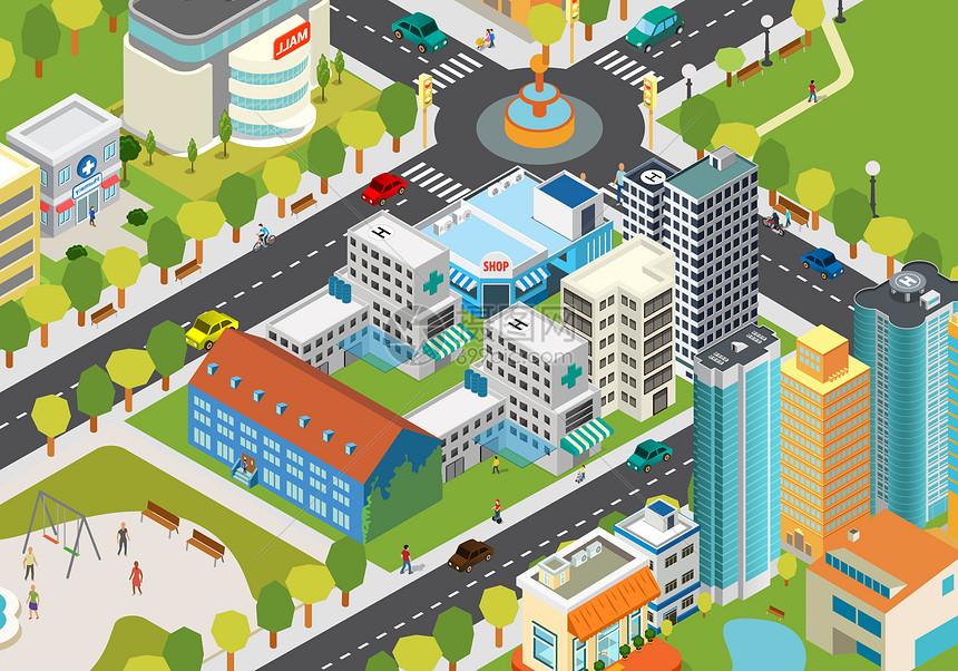 城市生活场景图片