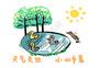预防中暑小漫画图片