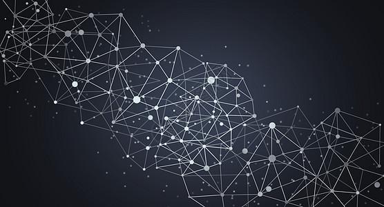 分子结构科技背景高清图片