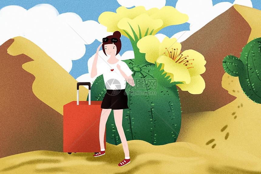 一个人的沙漠旅行图片
