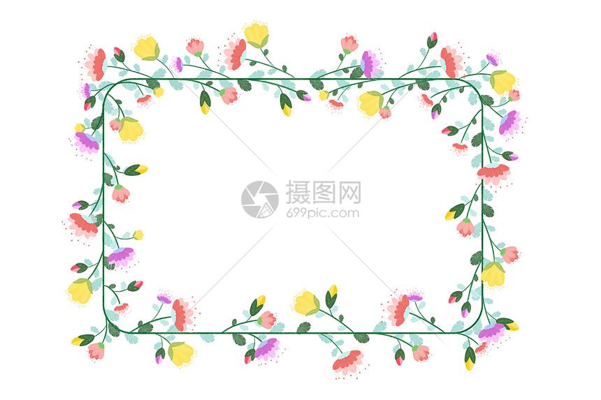 简约花卉边框图片