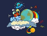 创意抽象宇宙插画素材23图片