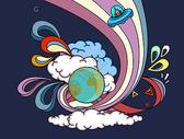创意抽象宇宙插画素材图片