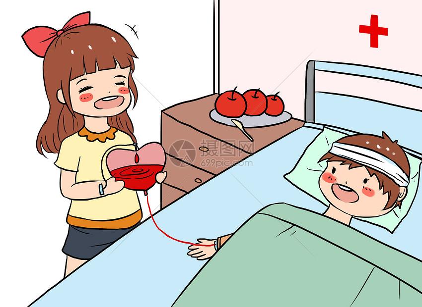世界献血日漫画图片