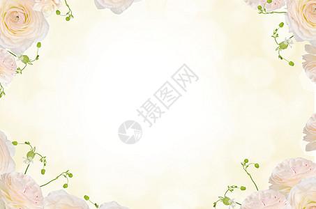 小清新简约花朵背景