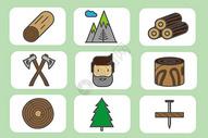 森林伐木图片