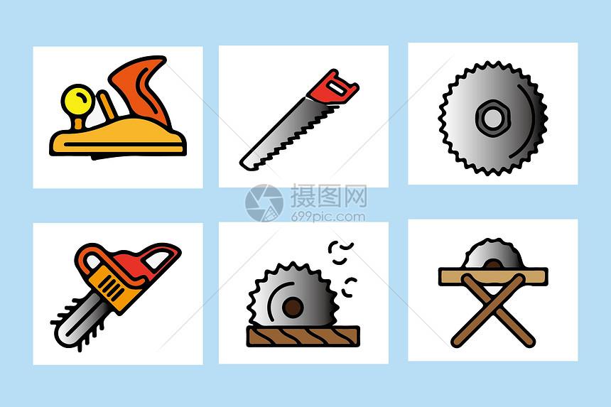 伐木工具图片