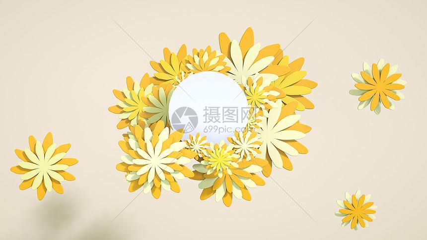 剪纸温馨花朵图片