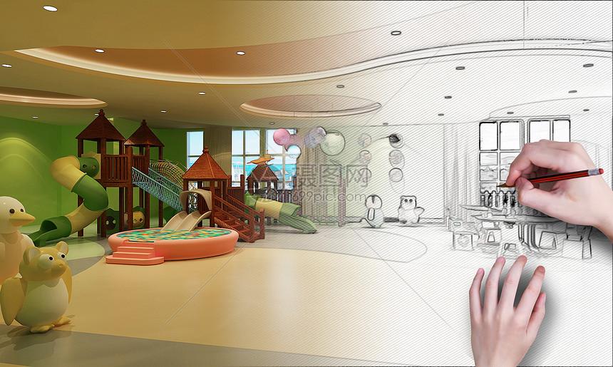 儿童乐园装修效果图图片