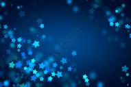 蓝色梦幻星星背景图片