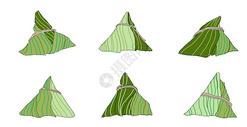 手绘粽子图标背景元素图片