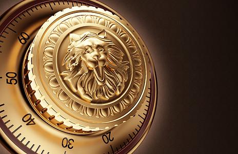 狮子徽章背景图片