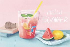 夏天冷饮图片