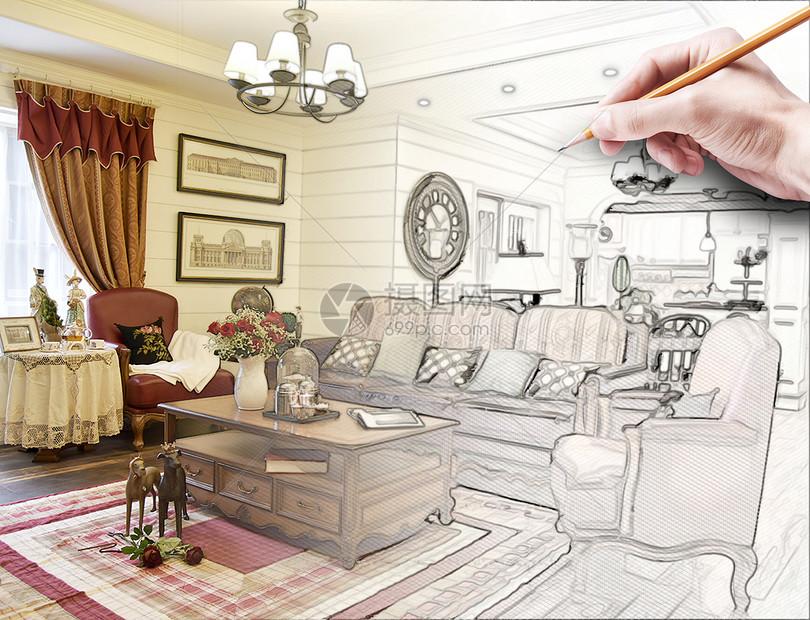 欧式客厅装修效果图片
