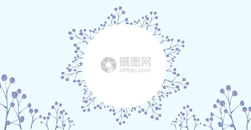 清新创意水彩花草插画背景图片